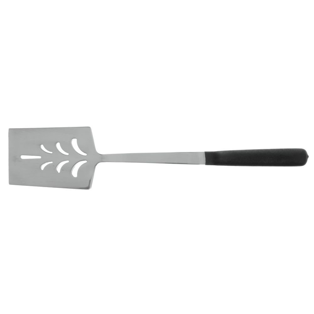 HUBERT Perforated Turner Spatula with Hollow Non-Slip Silicone Handle Stainless Steel - 14'' L