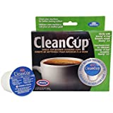 Clean Cup Single Cup Brewing Cleaning Cups, 0.25-Ounce, Brown/Green, 5-Pack