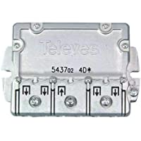 Televes 5437 - Repartidor EMC 4D, Acero Inoxidable