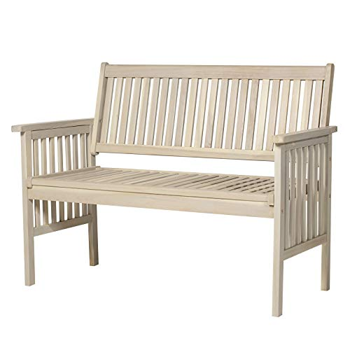 "Outsunny 46"" Acacia Wood Outdoor Patio Garden Bench"