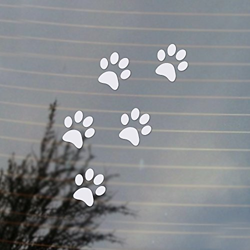 Vinyl Pet (Cat Paws Pet Lover Vinyl Decal (White))