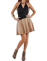 Cute Flare Brown Denim Skirt
