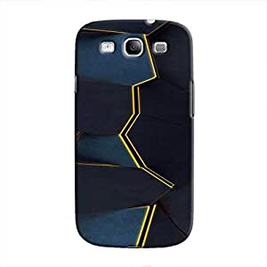 Cover It Up - Gilded Blue Fractures Galaxy S3 Hard Case