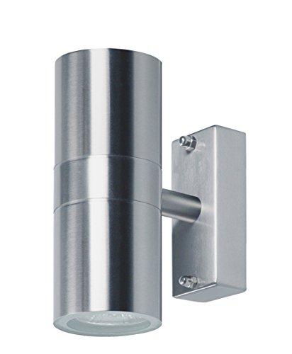Ranex 2605.010 Wandleuchte für den Außenbereich [2x 28 Watt], 215 Lumen / 2x 38° Abstrahlwinkel / warm weiß[Energieklasse C]