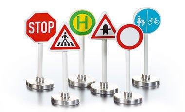 Matchbox Mega City builder Set miniature road signs Road