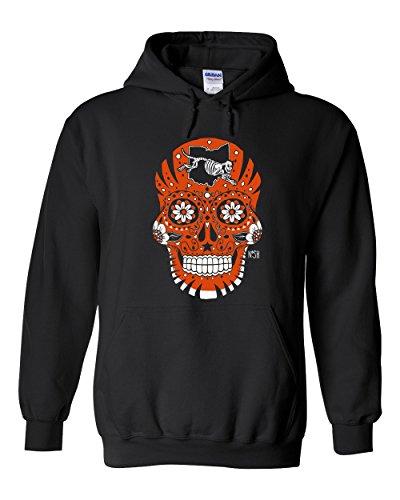 - America's Finest Apparel Cincinnati Sugar Skull Hoodie (XL)