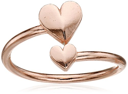 Alex and Ani Valentines Day Collection Romance Heart Wrap Sterling Ring, Size 5-7