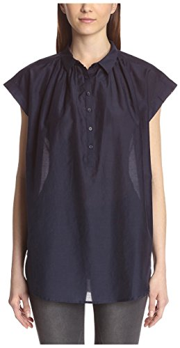 acrobat-womens-cap-sleeve-button-up-blouse-ink-xs