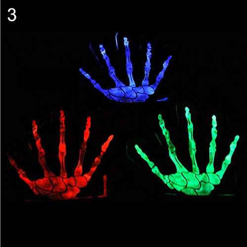 dxS8hhuo 1Pc Colorful LED Flashing Skeleton Werewolf Gloves Party Props Joke Prank Toy Play Toy for Kids Boys Girls Toys Random Color 3]()