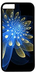 Abstract Fetching Flower DIY Rubber Black iphone 6 Case Perfect By Custom Service in GUO Shop