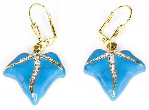 Blue Ivy Leaf Earrings - Swarovski Crystal - Licensed by V&A Victoria and Albert Museum, London
