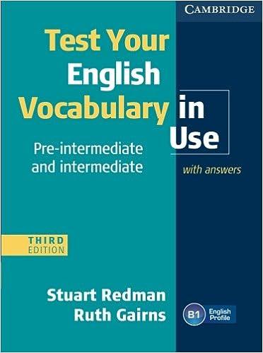 Vocabulary In Use Pre Intermediate