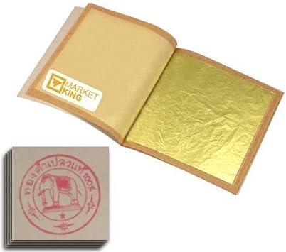 Amazon Com 20 Hojas De Oro Comestible 24 K 999 1000 Arte Manualidades Y Costura
