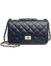 8252697b3ff5 Women Quilted Crossbody Bag Girls Side Purse and Shoulder Handbags Designer  Clutch with Chain