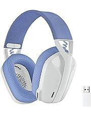 Logitech G435 LIGHTSPEED en Bluetooth draadloze gaming headset - Lichtgewicht, over-ear, ingebouwde microfoons, 18 uur batterij, compatibel met Dolby Atmos, PC, PS4, PS5, mobiel - Wit