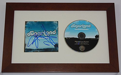 Sugarland Self-Titled Group Signed Autographed Music Cd Compact Disc Cover Framed Display - Full Movie Glue