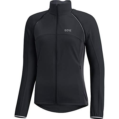 (GORE Wear Women's Windproof Cycling Jacket, Removable Sleeves, C3 Women's WINDSTOPPER Phantom Zip-Off Jacket, Size: M, Color: Black/Terra Grey, 100191)