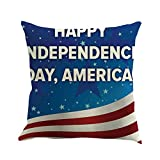Joopee Independence Day America Flag Letter Print Square Pillowcase Throw Pillow Cover Cushion Covers Pillowcase, Home Decor Decorations for Sofa Couch Bed Chair Patriotic 4th of July Pillowcase (C)