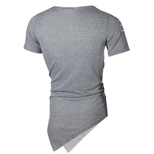 Veste Sport Courte Avec Pour Gris Standard Trous Hommes Couleur Vecdy Non Unie De ZOdZAw