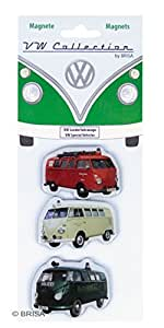 VW Collection by BRISA VW T1 Bus Magnets, Magnetos Vehículos Especializados, Conjunto de 3 Piezas (BRISA Entertainment BUMT03)
