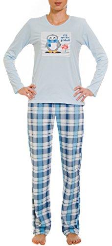Cornette Pijamas Dos Piezas para Mujer CR-655-Arctic Friend Azul