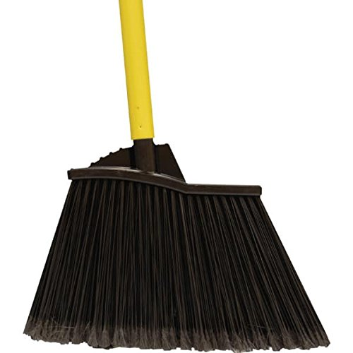 - XL Angle Broom With Soft Flagged Tip Bristles And Steel Handle Package Of 4
