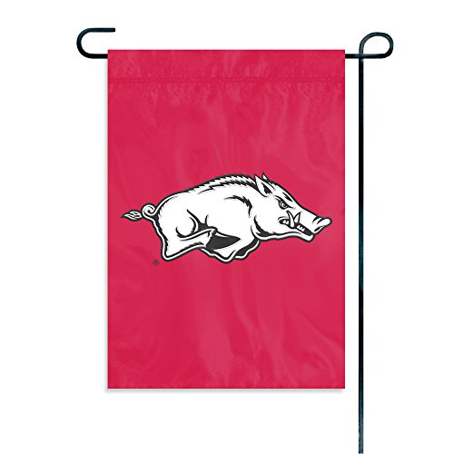 Party Animal NCAA Arkansas Razorbacks Garden Flag - Arkansas Razorbacks Clock