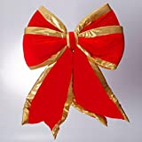 Sterling Large Commercial Grade Red & Gold Fabric Christmas 4 Loop Bow 24'' x 30'' #479349