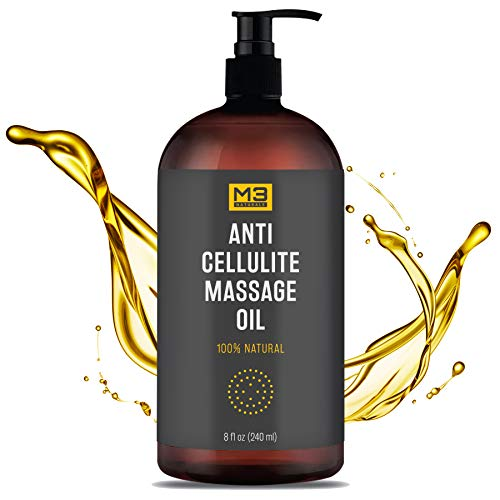 Premium Anti Cellulite Treatment Massage Oil - All Natural Ingredients – Penetrates Skin 6X Deeper Than Cellulite Cream - Targets...