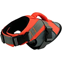 HOLDOOR Sport Style Dog Life Jacket with Rescue Handle and Reflective Trim - for Small, Medium and Large Breeds - Adjustable, Buoyant, Abrassion-Resistant, Ripstop