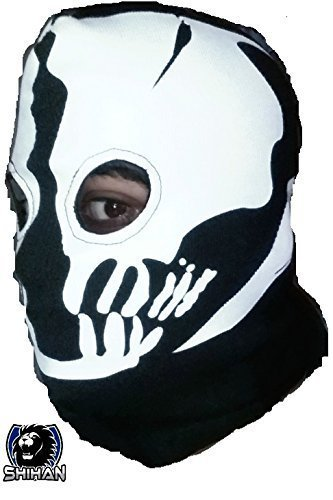Medelin' 2Loch, Zorro Ninja, Fancy Kleid Kostüm 1Größe Senior, Sturmhaube Ghost Face Maske Skull Bike Motorrad Helm Kapuze Ski Sport Hals Gesicht Maske Halloween Horror