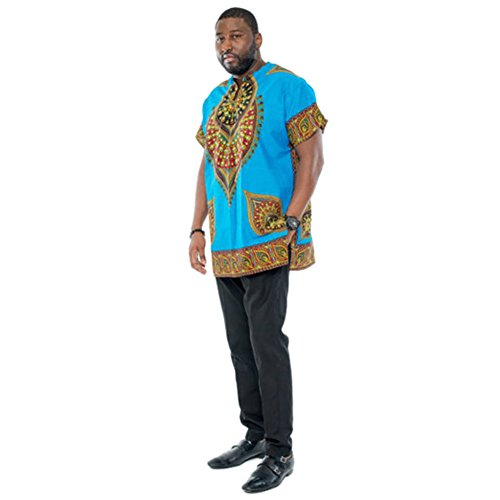 Meijunter Men African National Style Long-sleeved Loose Costumes Dashiki #5105