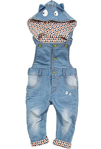 Kidscool Baby Boys/girls Eye Style Hat Hooded Denim Overalls 18-24 months