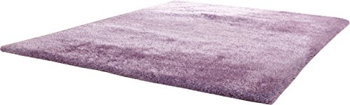 CHIC RUGZ Hand Tufted Shag Viscose Solid Area Rug, 5' x 7', Lavender (Chic Hand Tufted Rug)
