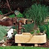Little Giant 566764 Brown Adobe Trough Fountain with Planter 566764