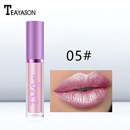 Creazy Women Waterproof Mermaid Lipstick Lasting Long Shimmer Liquid Lip Gloss Makeup (E)