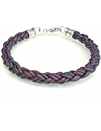 """<span class=""""a-offscreen"""">[Sponsored]</span>BROWN Braided Leather Rope Bracelet for Men & Women- Lucky Dog Leather- Genuine Leather- All Sizes for a Great..."""