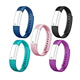 ID115 Replacement Band - Replacement Straps Adjustable Wristband Replacement Watch Band Bracelet for ID115 HR Or ID115 Fitness Tracker Pedometer Smart Watch Activity Monitor(5 Colors Pack)