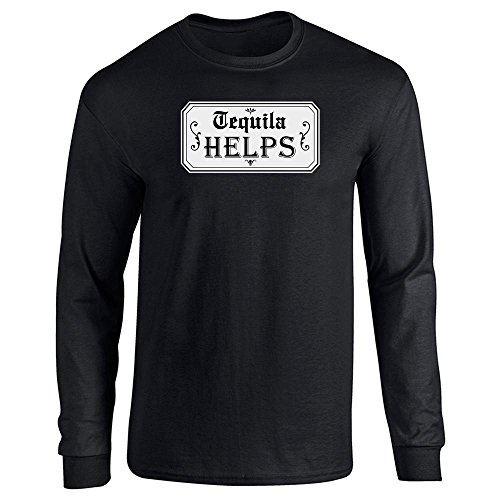 Helps Black 2XL Long Sleeve T-Shirt ()