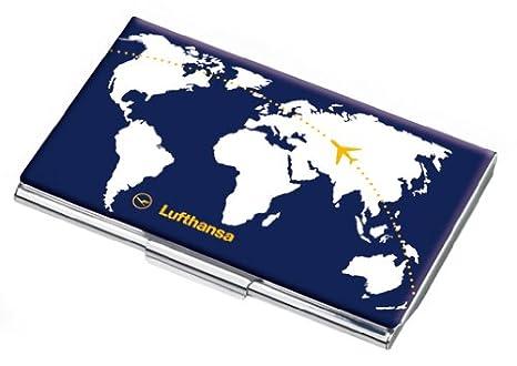 Lufthansa Visitenkartenetui Flach Mit Dekor Metall