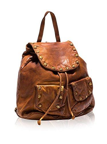 Roberta M. Zaino Backpack Cognac