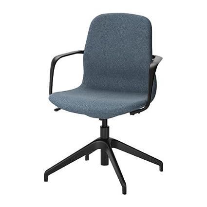 IKEA silla giratoria, Azul gunnared, Negro 10204.23218.1020: Amazon ...