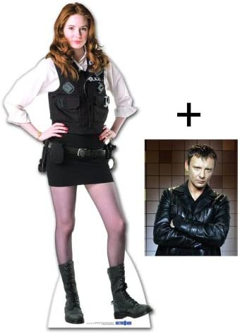 *FAN PACK* STANDEE // STANDUP KAREN GILLAN - INCLUDES 8X10 POLICEWOMAN UNIFORM AMY POND LIFESIZE CARDBOARD CUTOUT BBC DOCTOR WHO // DR WHO // DR FAN PACK #190 WHO STAR PHOTO 25X20CM