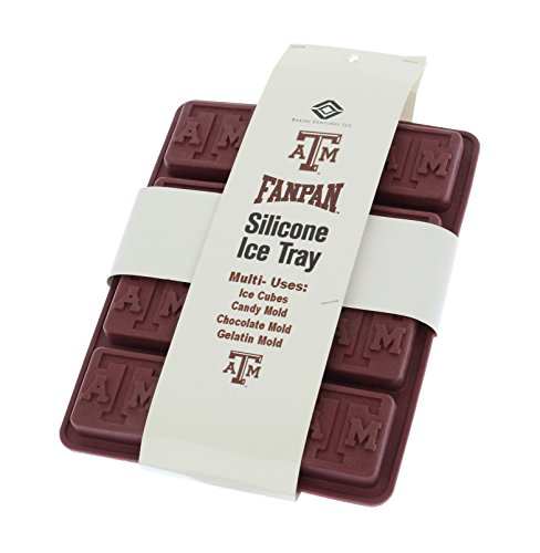 Fanpans NCAA Texas A&M Aggies Ice Trays & Candy Mold, One Size, Maroon