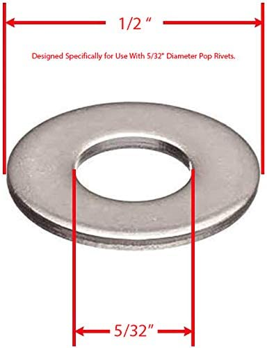 Back-Up Pop washers OD ID 304 18-8 Stainless Steel. X 3//8 Blind Rivets washers For Pop Rivets By Persberg #4 Pack of 220