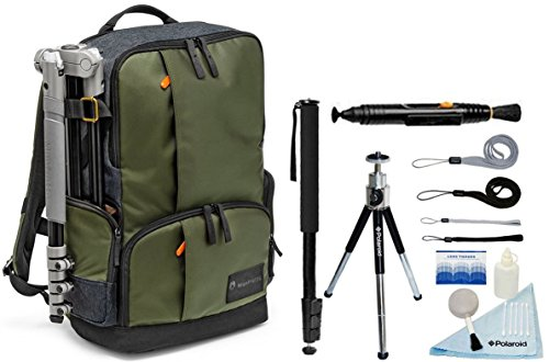 Manfrotto Street Backpack for DSLR Camera & Personal Gear and 17'' Laptop / Tablet + Accessory Kit by Manfrotto