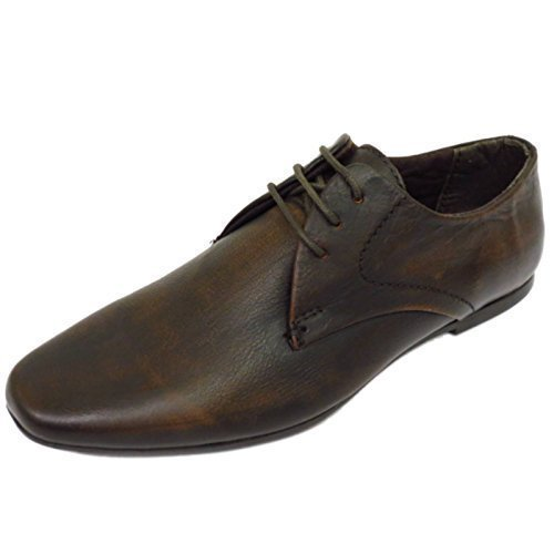 Boys Real Leather Brown Lace-Up Formal Wedding Smart School Brogue Shoes Sizes 1-6