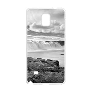 Clouds Sky And Waterfall White Phone For HTC One M7 Case Cover