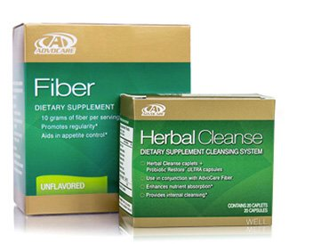 Advocare Herbal Cleanse & Unflavored Fiber Kit + Bonus>Herbal Cleanse 20 Capsules & Fiber 10 Pouches by AdvoCare