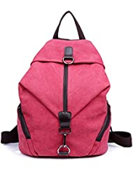Tiny Chou Womens And Girls Durable Canvas Backpack Schoolbag Travel Daypack